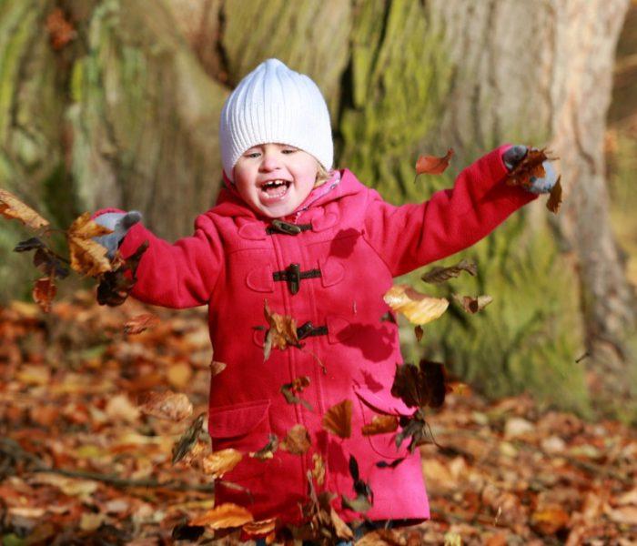Anika a podzimní dovádění