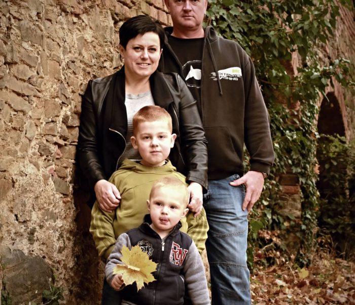 Petra s rodinou